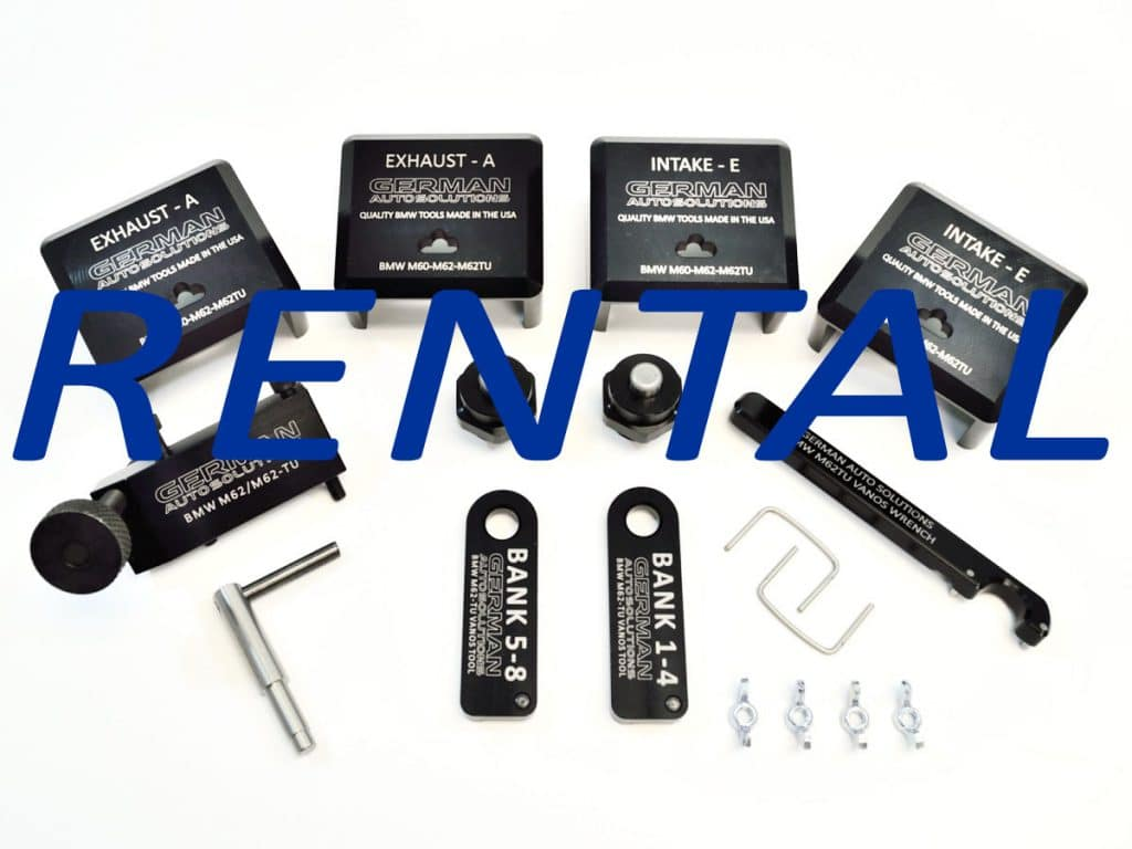 GAS Master Cam Timing Tool Kit Rental for the BMW M62tu Engine $75.00 (Includes $194.95 Security Deposit)