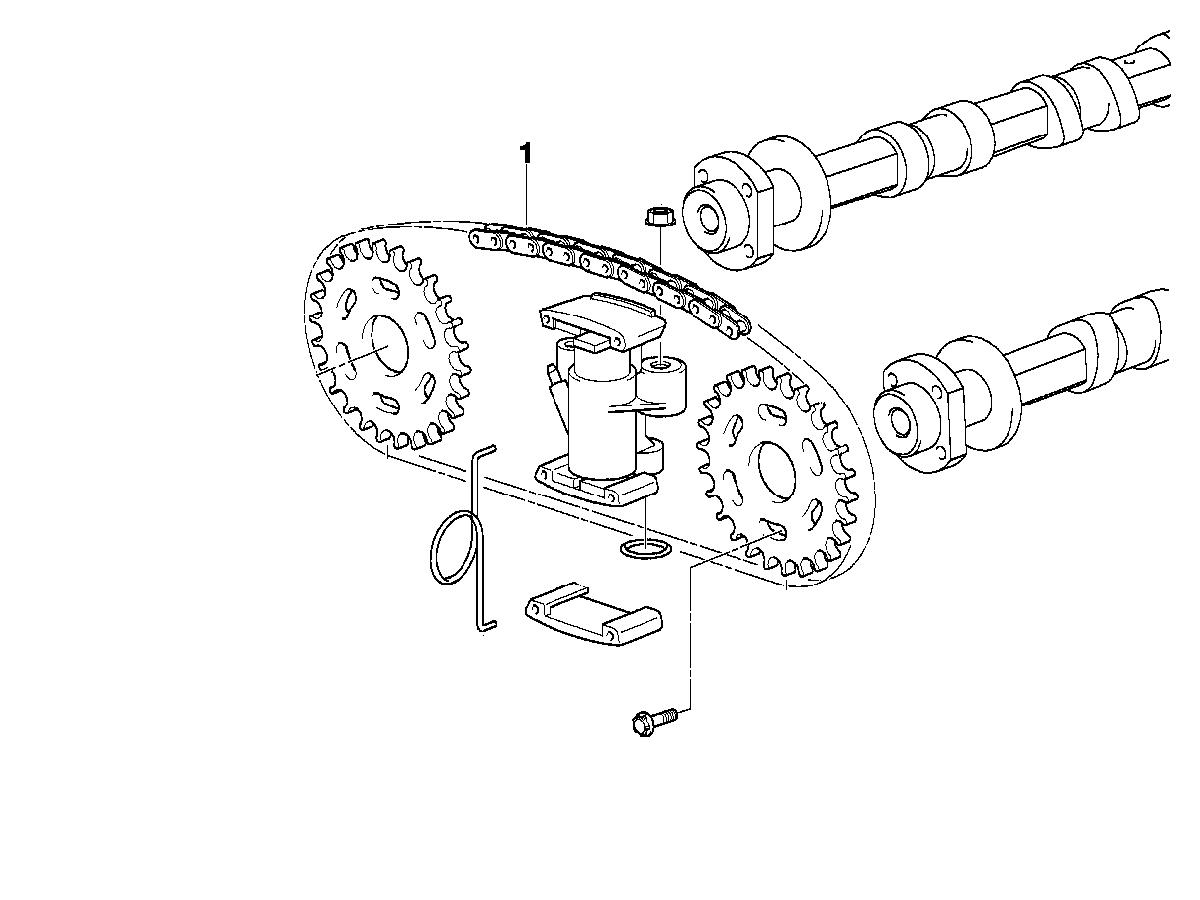 BMW M62tu Secondary (Upper) Cam Timing Chain (Qty 2) - IWIS