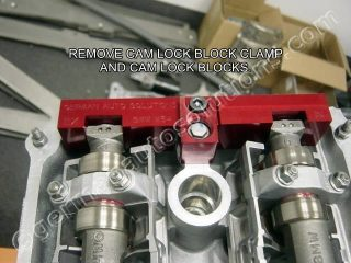 CAM LOCK BLOCKS REMOVE
